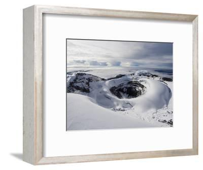 Summit Crater, Volcan Cotopaxi, 5897M, the Highest Active Volcano in the World, Ecuador-Christian Kober-Framed Premium Photographic Print