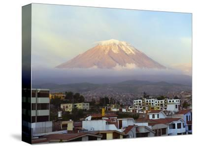 El Misti Volcano 5822M Above City, Arequipa, Peru, South America-Christian Kober-Stretched Canvas Print
