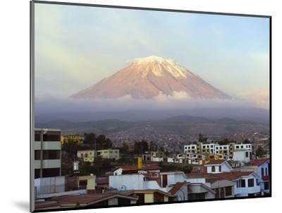 El Misti Volcano 5822M Above City, Arequipa, Peru, South America-Christian Kober-Mounted Photographic Print