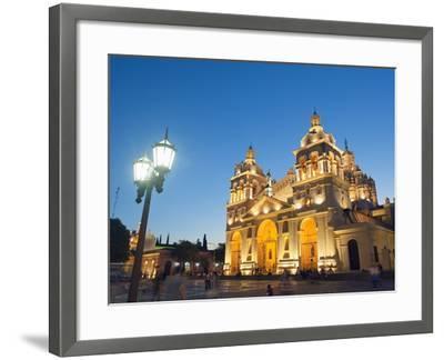 Cordoba Cathedral at Night, Cordoba, Argentina, South America-Christian Kober-Framed Photographic Print