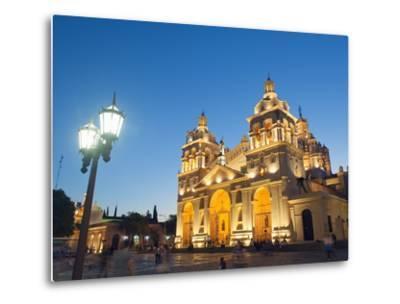 Cordoba Cathedral at Night, Cordoba, Argentina, South America-Christian Kober-Metal Print