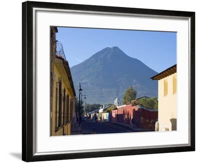 Volcan De Agua, 3765M, Antigua, Guatemala, Central America-Christian Kober-Framed Photographic Print