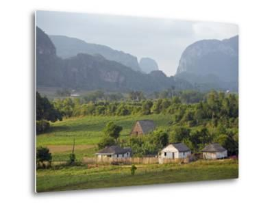 Farm Houses and Mountains, Vinales Valley, Cuba, West Indies, Caribbean, Central America-Christian Kober-Metal Print