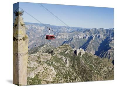 Cable Car at Barranca Del Cobre (Copper Canyon), Chihuahua State, Mexico, North America-Christian Kober-Stretched Canvas Print