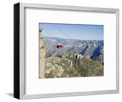 Cable Car at Barranca Del Cobre (Copper Canyon), Chihuahua State, Mexico, North America-Christian Kober-Framed Photographic Print