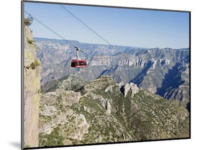 Cable Car at Barranca Del Cobre (Copper Canyon), Chihuahua State, Mexico, North America-Christian Kober-Mounted Photographic Print
