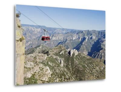 Cable Car at Barranca Del Cobre (Copper Canyon), Chihuahua State, Mexico, North America-Christian Kober-Metal Print