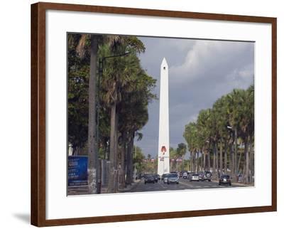 Obelisk, Santo Domingo, Dominican Republic, West Indies, Caribbean, Central America-Christian Kober-Framed Photographic Print