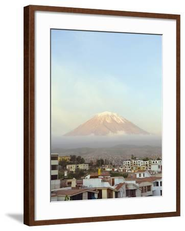 El Misti Volcano, 5822M, Above City, Arequipa, Peru, South America-Christian Kober-Framed Photographic Print