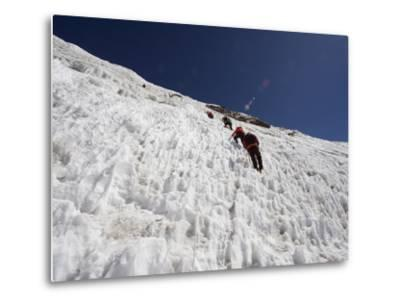 Climbers on An Ice Wall, Island Peak 6189M, Sagarmatha National Park, Himalayas-Christian Kober-Metal Print