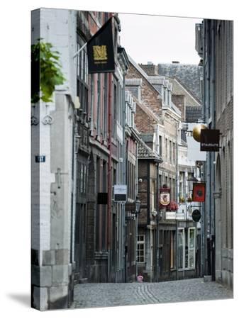 Stokstraat (Stok Street), Maastricht, Limburg, the Netherlands, Europe-Emanuele Ciccomartino-Stretched Canvas Print