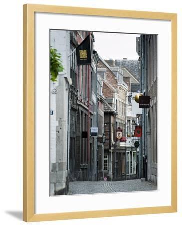 Stokstraat (Stok Street), Maastricht, Limburg, the Netherlands, Europe-Emanuele Ciccomartino-Framed Photographic Print