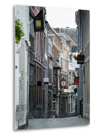 Stokstraat (Stok Street), Maastricht, Limburg, the Netherlands, Europe-Emanuele Ciccomartino-Metal Print