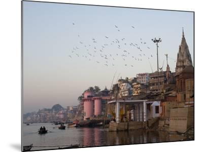The Ganges River and Ghats of Varanasi, Uttar Pradesh, India, Asia--Mounted Photographic Print