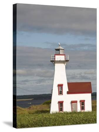 New London Lighthouse, New London, Prince Edward Island, Canada, North America-Michael DeFreitas-Stretched Canvas Print
