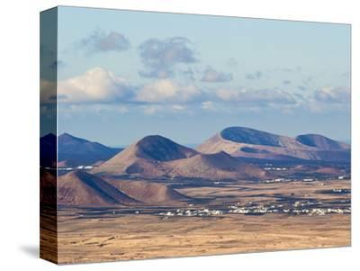 Cinder Cones in the Centre of the Island Near Tinajo, a Relic of the Island's Active Volcanic Past-Robert Francis-Stretched Canvas Print