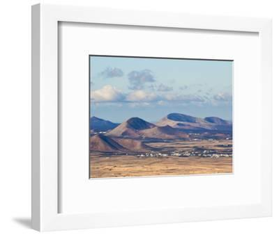 Cinder Cones in the Centre of the Island Near Tinajo, a Relic of the Island's Active Volcanic Past-Robert Francis-Framed Photographic Print
