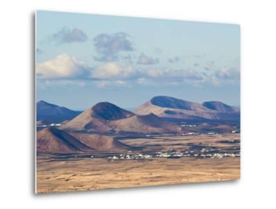 Cinder Cones in the Centre of the Island Near Tinajo, a Relic of the Island's Active Volcanic Past-Robert Francis-Metal Print
