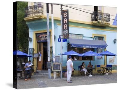 Pulperia La Argentina Bar in La Boca District of Buenos Aires, Argentina, South America-Richard Cummins-Stretched Canvas Print
