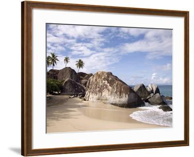 The Baths, Large Granite Boulders, Virgin Gorda, British Virgin Islands, West Indies, Caribbean-Donald Nausbaum-Framed Photographic Print