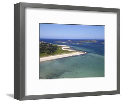 Aerial View of Tresco, Isles of Scilly, England, United Kingdom, Europe-Peter Barritt-Framed Photographic Print