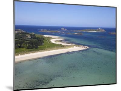 Aerial View of Tresco, Isles of Scilly, England, United Kingdom, Europe-Peter Barritt-Mounted Photographic Print