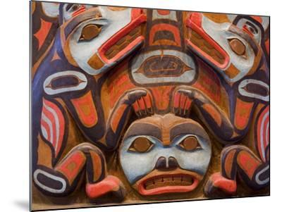Tlingit Housepost in Sitka National Historical Park, Sitka, Baranof Island, Southeast Alaska, USA-Richard Cummins-Mounted Photographic Print