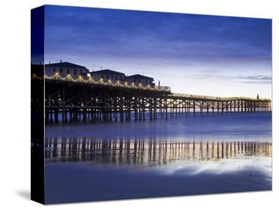 Crystal Pier on Pacific Beach, San Diego, California, United States of America, North America-Richard Cummins-Stretched Canvas Print