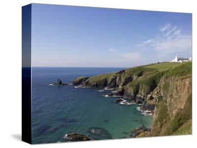 Lighthouse, Lizard Point, Cornwall, England, United Kingdom, Europe-Jeremy Lightfoot-Stretched Canvas Print