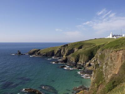 Lighthouse, Lizard Point, Cornwall, England, United Kingdom, Europe-Jeremy Lightfoot-Photographic Print