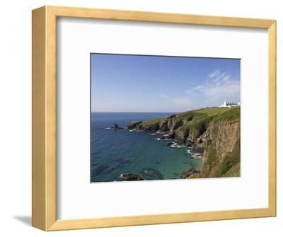 Lighthouse, Lizard Point, Cornwall, England, United Kingdom, Europe-Jeremy Lightfoot-Framed Photographic Print