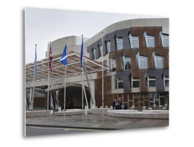 Scottish Parliament Building, Edinburgh, Scotland, Uk-Amanda Hall-Metal Print