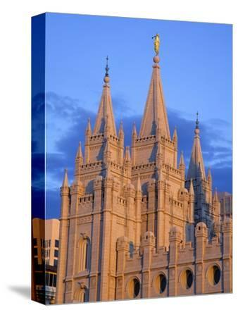 Mormon Temple on Temple Square, Salt Lake City, Utah, United States of America, North America-Richard Cummins-Stretched Canvas Print