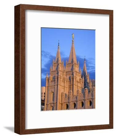 Mormon Temple on Temple Square, Salt Lake City, Utah, United States of America, North America-Richard Cummins-Framed Photographic Print