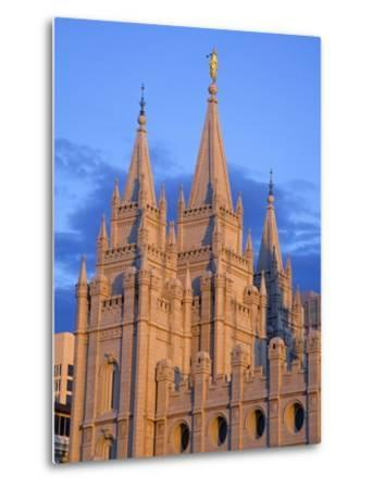Mormon Temple on Temple Square, Salt Lake City, Utah, United States of America, North America-Richard Cummins-Metal Print