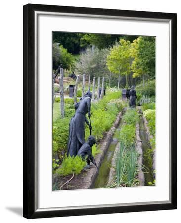 Pioneer Gardener Statue in Brigham Young Historic Park, Salt Lake City, Utah, USA-Richard Cummins-Framed Photographic Print