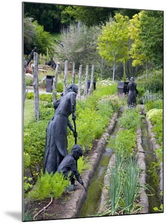 Pioneer Gardener Statue in Brigham Young Historic Park, Salt Lake City, Utah, USA-Richard Cummins-Mounted Photographic Print