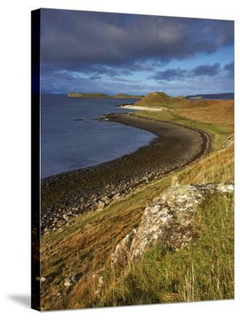 A View Towards the Coral Beaches Near Dunvegan, Isle of Skye, Scotland, United Kingdom, Europe-Jon Gibbs-Stretched Canvas Print