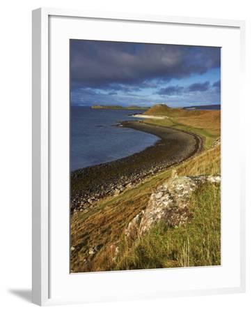 A View Towards the Coral Beaches Near Dunvegan, Isle of Skye, Scotland, United Kingdom, Europe-Jon Gibbs-Framed Photographic Print