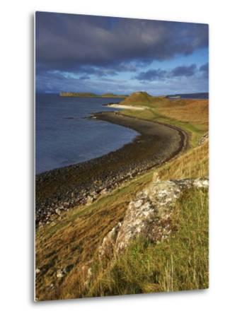 A View Towards the Coral Beaches Near Dunvegan, Isle of Skye, Scotland, United Kingdom, Europe-Jon Gibbs-Metal Print