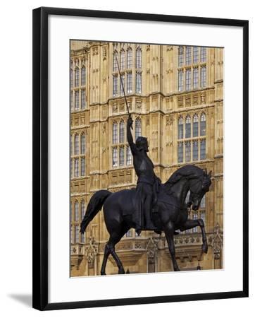 Richard the Lionheart Statue, Houses of Parliament, Westminster, London, England, Uk-Jeremy Lightfoot-Framed Photographic Print