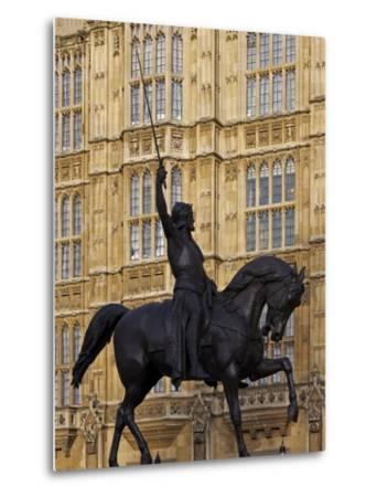 Richard the Lionheart Statue, Houses of Parliament, Westminster, London, England, Uk-Jeremy Lightfoot-Metal Print