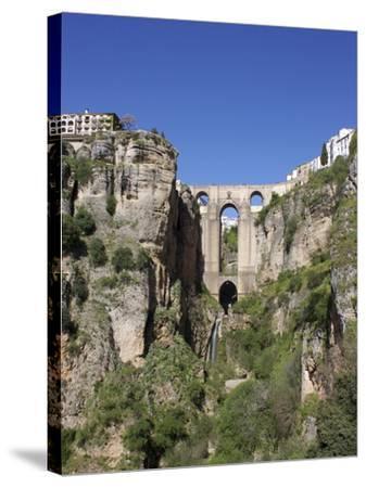 Tajo Gorge and New Bridge, Ronda, Malaga Province, Andalucia, Spain, Europe-Jeremy Lightfoot-Stretched Canvas Print