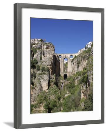 Tajo Gorge and New Bridge, Ronda, Malaga Province, Andalucia, Spain, Europe-Jeremy Lightfoot-Framed Photographic Print