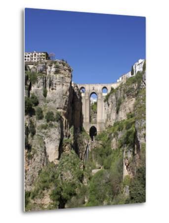 Tajo Gorge and New Bridge, Ronda, Malaga Province, Andalucia, Spain, Europe-Jeremy Lightfoot-Metal Print