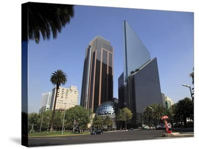 Mexican Stock Exchange Building, Centro Bursatil, Paseo De La Reforma, Reforma, Mexico City, Mexico-Wendy Connett-Stretched Canvas Print