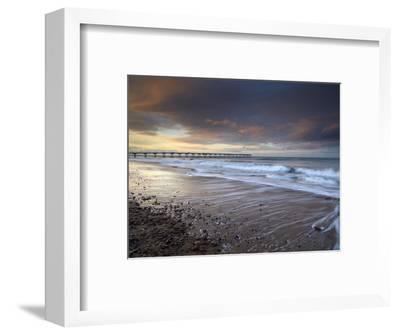 A Beautiful Spring Sunset at Saltburn, North Yorkshire, England, United Kingdom, Europe-Jon Gibbs-Framed Photographic Print