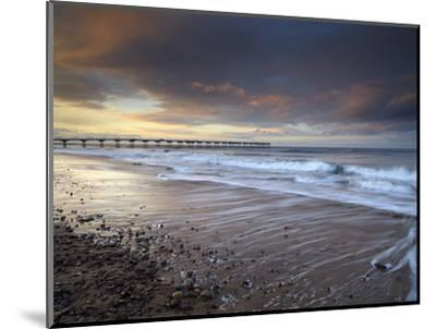 A Beautiful Spring Sunset at Saltburn, North Yorkshire, England, United Kingdom, Europe-Jon Gibbs-Mounted Photographic Print