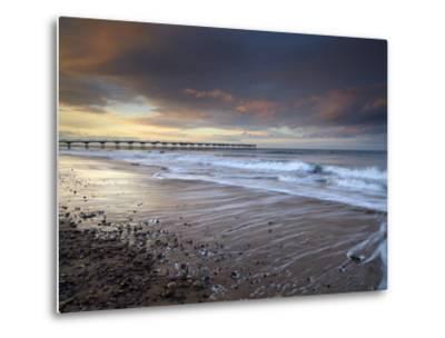 A Beautiful Spring Sunset at Saltburn, North Yorkshire, England, United Kingdom, Europe-Jon Gibbs-Metal Print