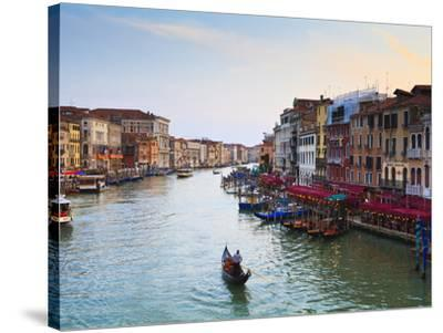 The Grand Canal, Venice, UNESCO World Heritage Site, Veneto, Italy, Europe-Amanda Hall-Stretched Canvas Print